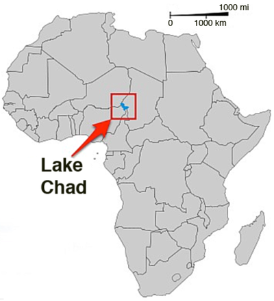 Lake Chad Map Lake Chad On Africa Map | Biofocuscommunicatie